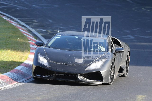 Lamborghini Cabrera замечен без защитного камуфляжа