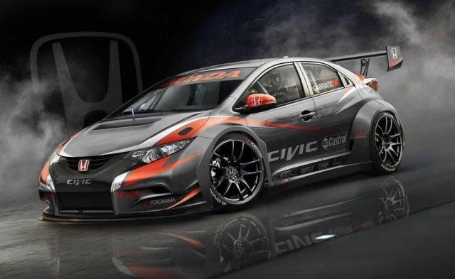 Honda показала обновленную версию Civic WTCC