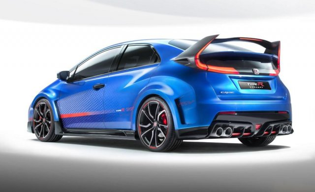 Свежий концепт Honda Civic Type R едет в Париж