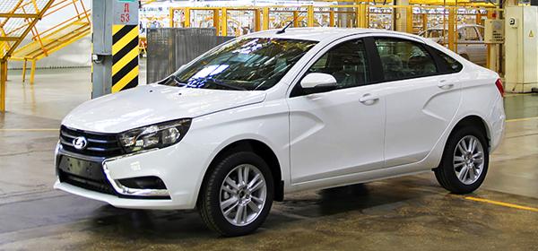 Lada Vesta будет доступна в трех комплектациях