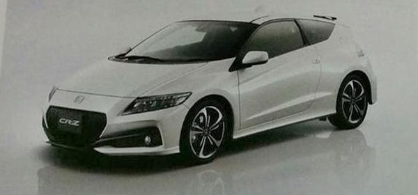 Опубликованы первые фото обновленного Honda CR-Z
