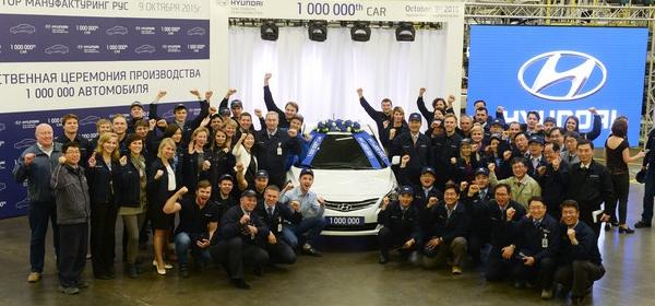 На заводе Hyundai в России собрали миллионный авто