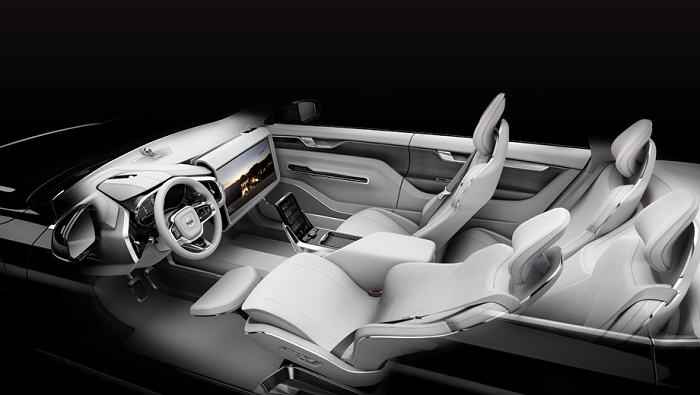 Volvo представила интерьер «машины времени»