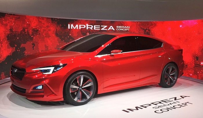 Subaru показала концепт нового седана Impreza
