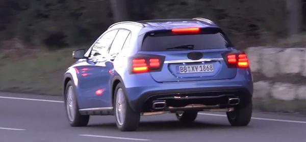 На тестах замечен обновленный кроссовер Mercedes GLA