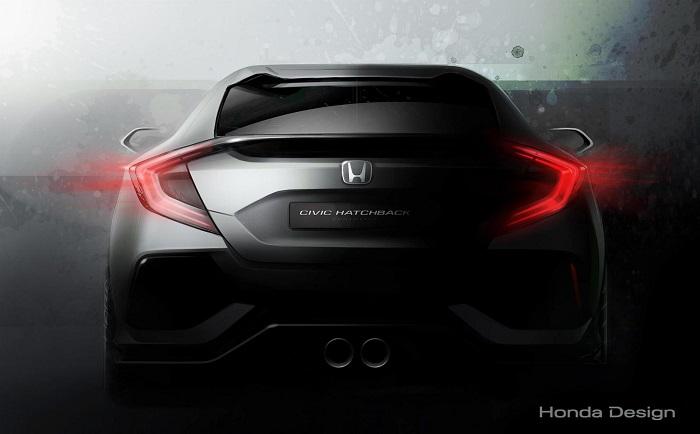 Honda показала первое изображение нового хэтча Civic