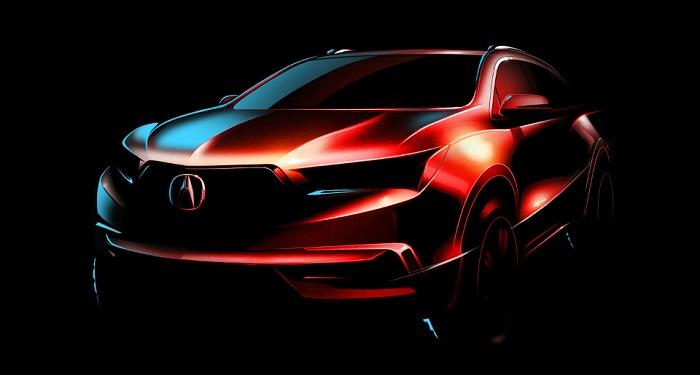 Acura MDX: Тизер обновленного кроссовера