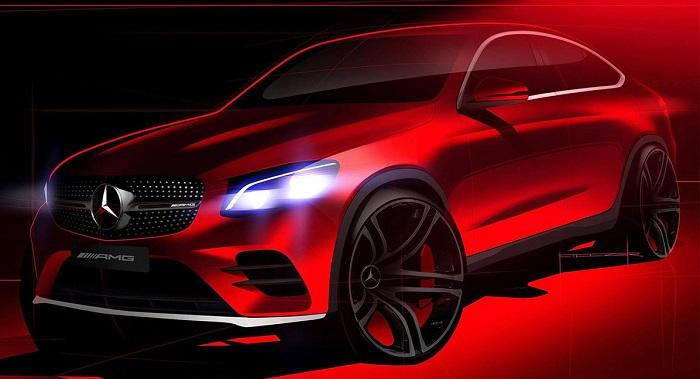 Mercedes GLC Coupe: Опубликовано первое изображение кроссовера